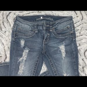 Boot cut distressed Jeans